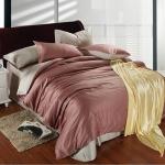 ผ้าปูที่นอน tencel สีน้ำตาล-เทา สีพื้น