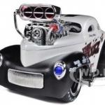 พรีออเดอร์ รถเหล็ก รถโมเดล US Muscle 1941 Willys Coupe Metallic White Maisto สเกล 1:24