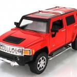 ขาย พรีออเดอร์ โมเดลรถเหล็ก โมเดลรถยนต์ Hummer H3 แดง 1:24 มี โปรโมชั่น