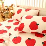 ผ้าปูที่นอน ลายจุด แอปเปิ้ล