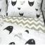 ผ้าปูที่นอน ลายการ์ตูนหน้าแมว ลายหยัก พื้นสีขาว thumbnail 6