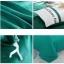 ผ้าปูที่นอน สีพื้นสีเขียว-ขาว thumbnail 2