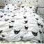 ผ้าปูที่นอน ลายการ์ตูนหน้าแมว ลายหยัก พื้นสีขาว thumbnail 5