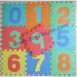 แผ่นรองคลานลายตัวเลข0-9 (10 แผ่น)