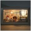 DIY mini-cottage romantic - ห้องนั่งเล่น พร้อมเตาผิง
