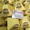 Coffee soap สบู่สครับกาแฟ กล่องสีเหลืองทรงปิรามิด By KziiKwan