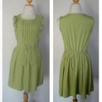 เสื้อใหม่ ชุดเดรส สีเขียว มีสม๊อคหลัง