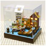 DIY One-Piece cartoon hut.. บ้านตุ๊กตาจิ๋ว จากการ์ตูนวันพีชพร้อมท่าเรือ