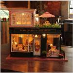 DIY clay hut large villa housing sub-model Hallstatt town cafe. . ร้านเบเกอรี่ใหญ่สองชั้น มีด้านนอกไว้นั่งเล่นสูดอากาศ