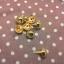 หมุดกลม15mm ทองแพค4ตัว thumbnail 1