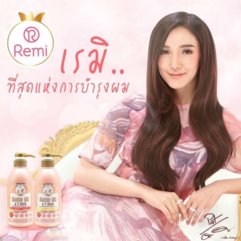 แชมพูน้ำมันม้าเรมิ Remi Horse Oil (Shampoo + Treatment)