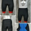 กางเกงปั่นจักรยานขาสั้น NPDSPORT Anti-Slip (ปลายขา Laser Cutting) ปลายขาสีแดง: PS17012