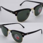 Ray Ban RB3016 901/58 Clubmaster Polarized lenses
