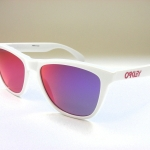 OAKLEY FROGSKINS OO9013 24-307 POLISHED WHITE/RUBY IRIDIUM