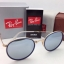 Ray-Ban Round Folding RB 3517 001/30 Blue Silver mirror thumbnail 1