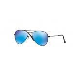 Ray Ban RJ9506S 201/55 MATTE BLACK Blue Mirror