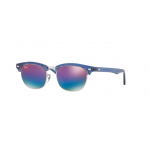Ray Ban RJ9050S 7037B1 TRASPARENT BLUE Green Mirror Blue Grad Viola