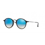 Ray Ban RB2447F 901/4O SHINY BLACK Mirror Gradient Blue