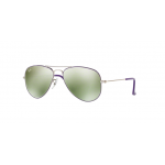 Ray Ban RJ9506S 262/30 SILVER TOP ON VIOLET Green Flash Silver