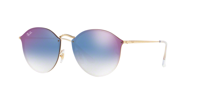 Ray Ban RB3574N 001/X0 GOLD Clear Gradient Blue Mirror Red