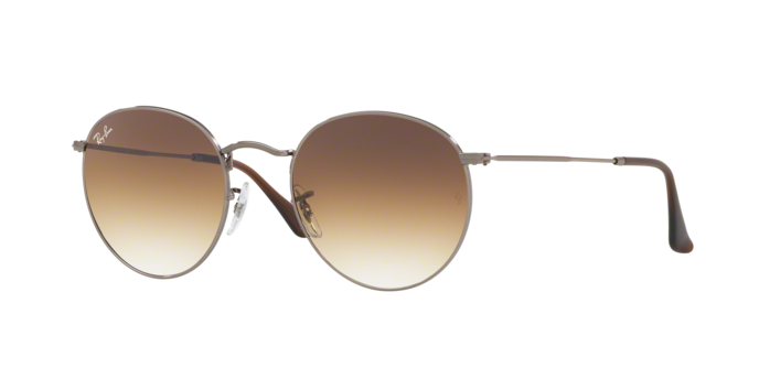 Ray-Ban Round RB3447N 004/51 Gunmetal Brown Gradient