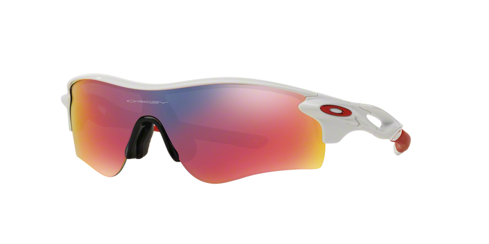 Oakley OO9206-10 RADARLOCK PATH POLISHED WHITE Positive Red Iridium