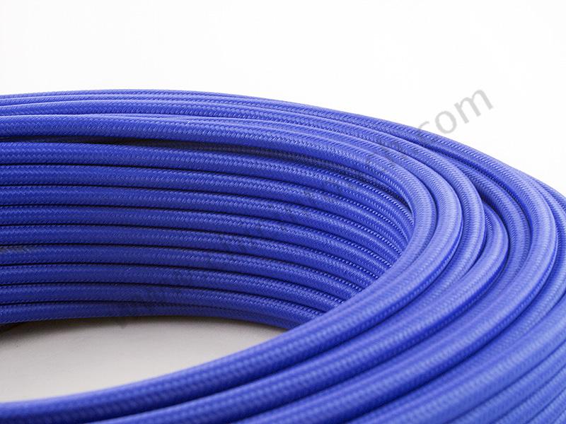 สายไฟวินเทจถัก สีน้ำเงิน(Blue)