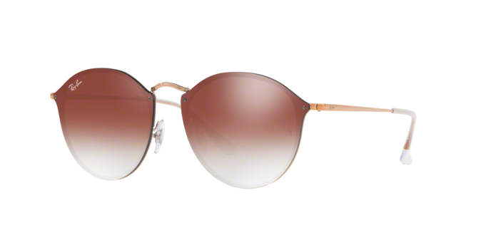 Ray Ban RB3574N 9035V0 COPPER Clear Gradient Red Mirror Red