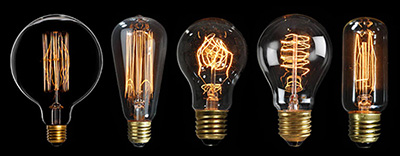 ประเภทของหลอดไฟเอดิสัน โมเดลต่างๆ มีหลายแบบให้เลือกสรร