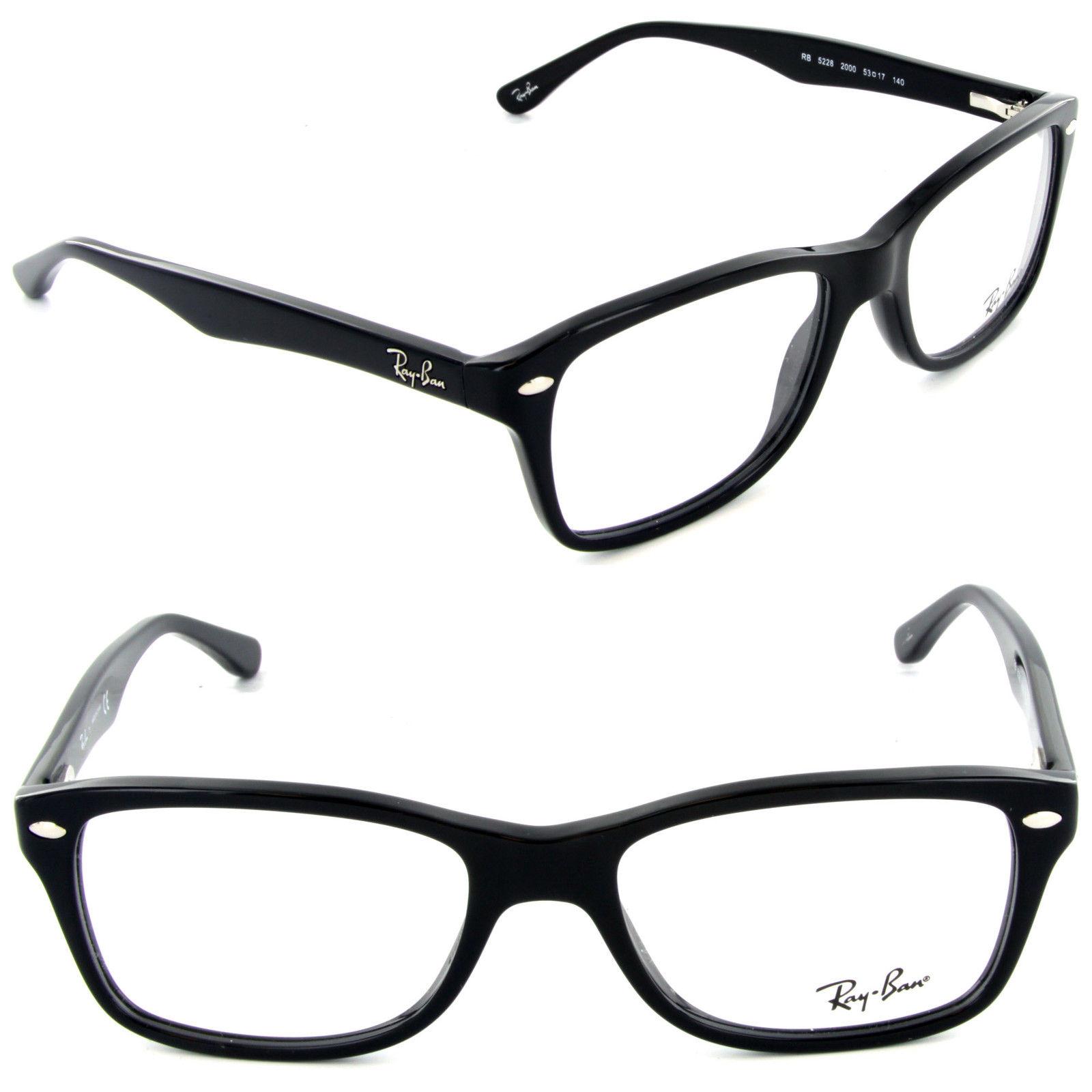 Ray Ban RX5228F 2000 Black Eyeglasses