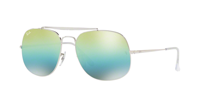 Ray Ban RB3561 003/I2 SILVER Green Mirror Blue Grad Green