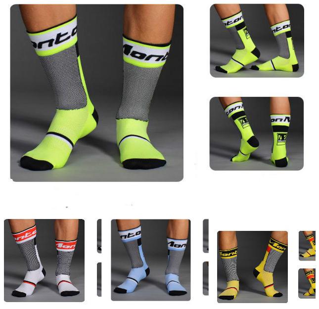 ถุงเท้าปั่นจักรยาน MONTON 2015