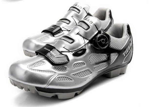 รองเท้าปั่นจักรยานเสือภูเขา TIEBAO สีดำเงิน : TB15-B1259_0402