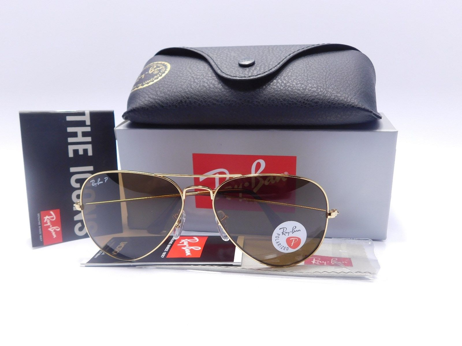 Ray Ban AVIATOR RB3025 001/57 Brown Polarized