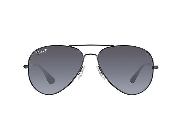 Ray Ban Aviator RB3558 002/T3 Polarized lenses black frame