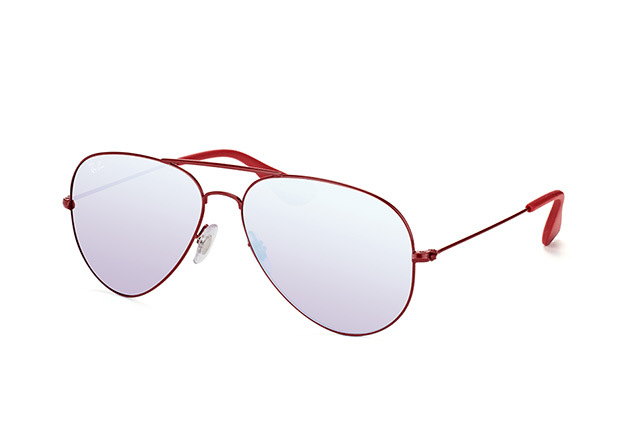 Ray Ban Aviator RB3558 9017/B5 Bordeaux Pink Silver Mirror Lens