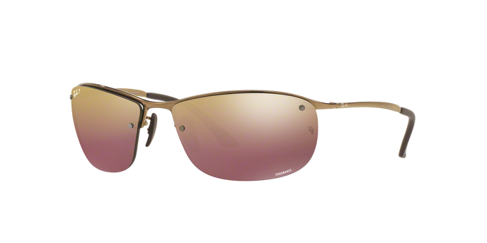 Ray Ban RB3542 197/6B SHINY BROWN Mirror Gold Polarized