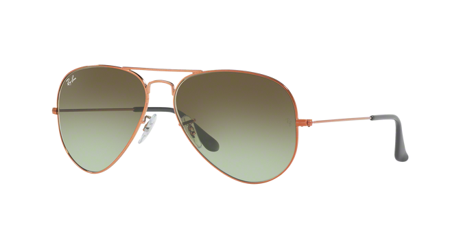 RayBan RB3025 9002A6 Green Gradient Brown