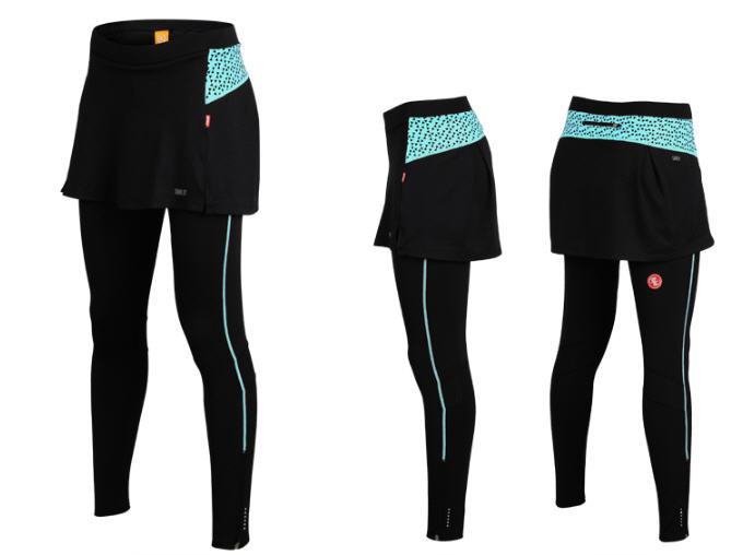 กางเกงกระโปรงปั่นจักรยานขายาวผู้หญิง SOUKE สีฟ้า : SKT0201
