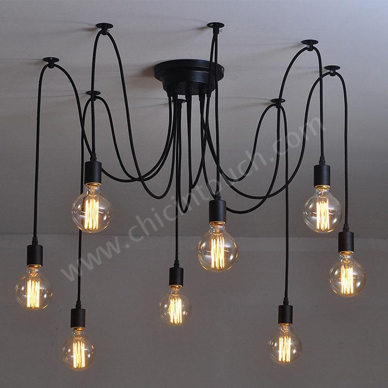 โคมไฟติดเพดาน รุ่น 8 Bulb Chandelier (C0808)