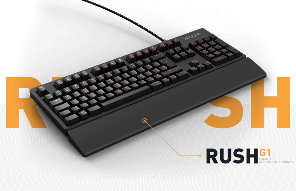 Fnatic RUSH Gaming Keyboard (ENG) - Cherry MX Brown Switch