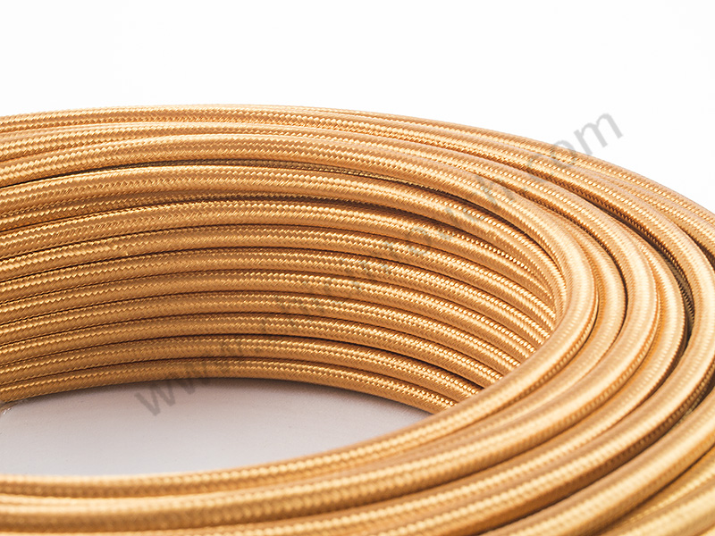 สายไฟวินเทจถัก สีทองแดง(Copper)