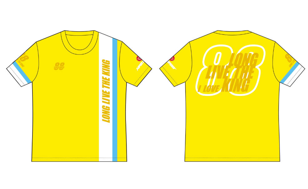 เสื้อคอกลมปั่นจักรยาน แขนสั้น LONG LIVE THE KING : NPD0203
