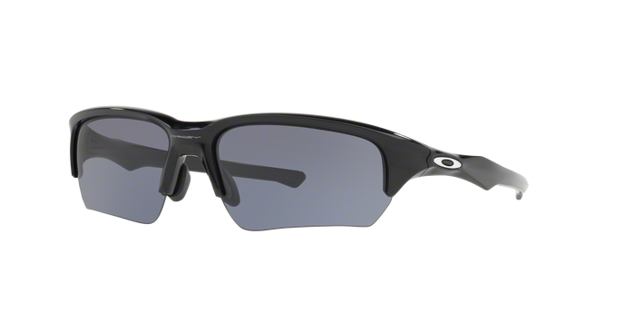 Oakley OO9372-01 POLISHED BLACK Grey