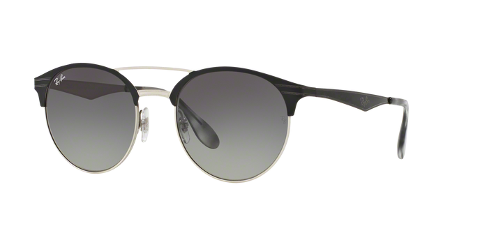 Ray Ban RB3545 900411 TOP BLACK ON SILVER Grey Gradient