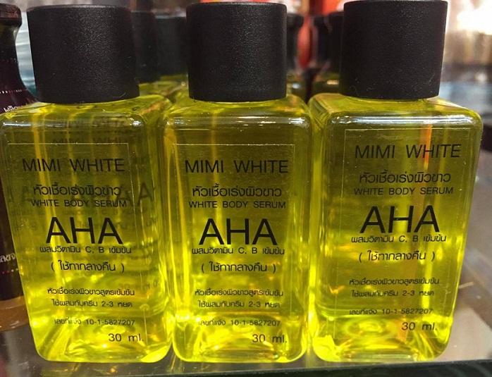หัวเชื้อเร่งผิวขาว AHA white by MIMI สูตรออริจินัล