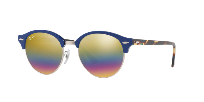Ray Ban RB4246 1223C4 TOP BLUE ON TRASPARENT BLUE Light Grey Mirror Rainbow 3