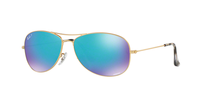 Ray Ban RB3562 112/A1 MATTE GOLD Blue Polar Flash