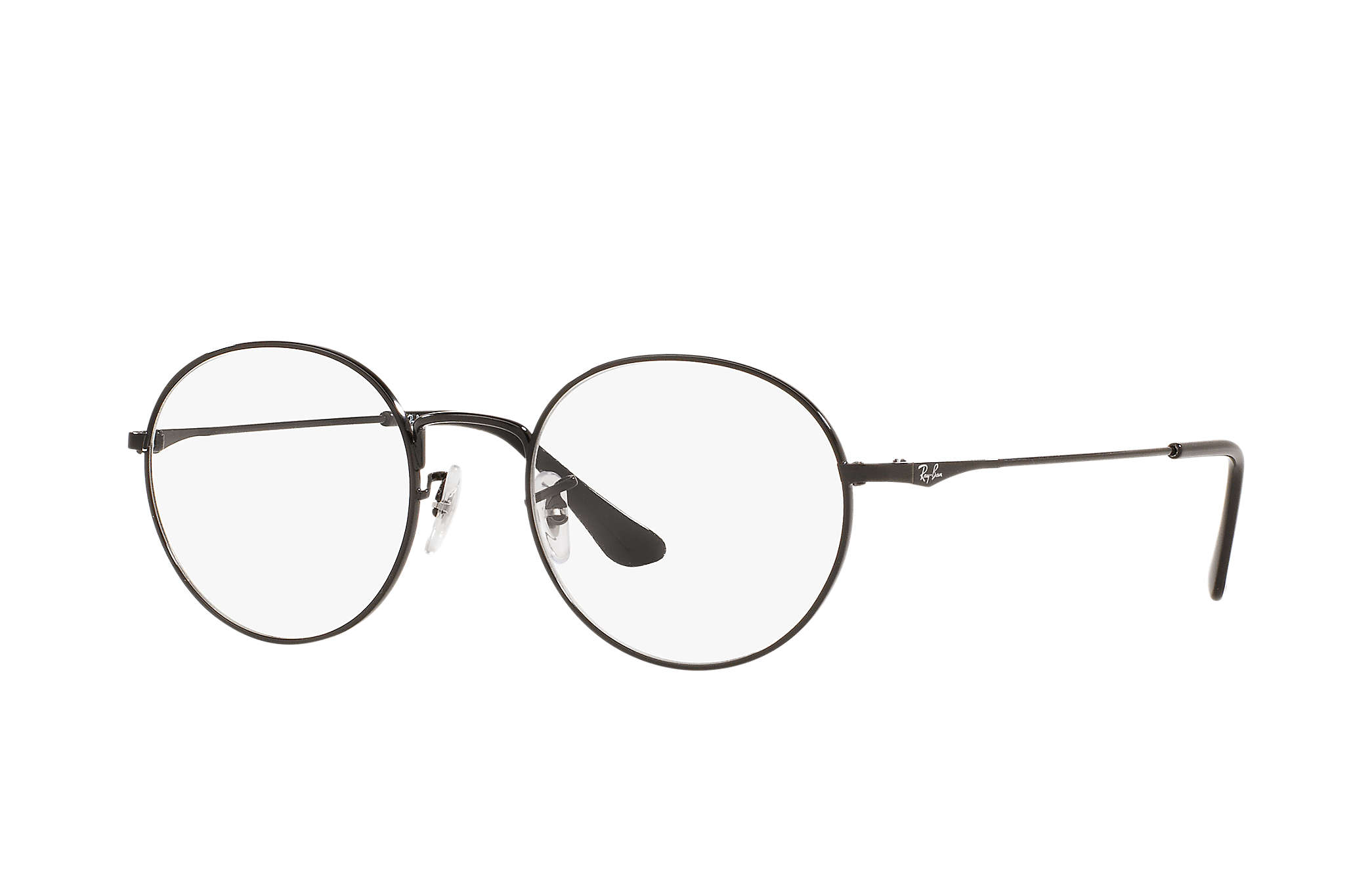 Ray-Ban RX6369D 2509 Black Round Metal EYEGLASSES
