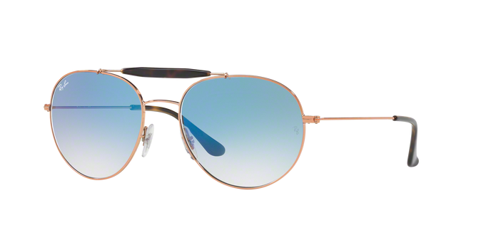 Ray Ban RB3540 90353F COPPER Clear Gradient Blue